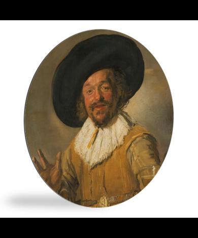 De vrolijke drinker - Schilderij van Frans Hals wandcirkel
