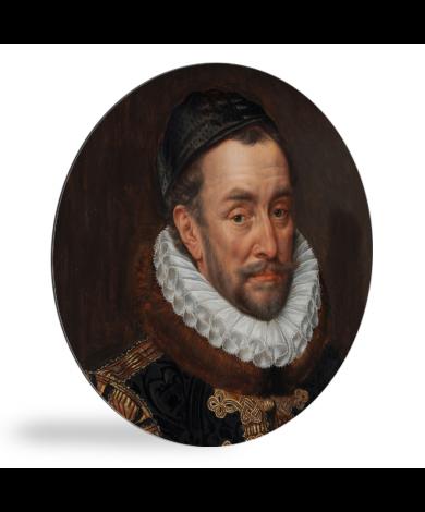 Willem van Oranje - Schilderij van Adriaen Thomasz wandcirkel