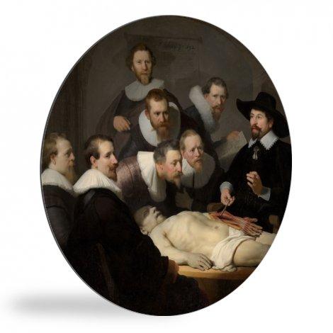 De anatomische les van Dr Nicolaes Tulp - Schilderij van Rembrandt van Rijn wandcirkel