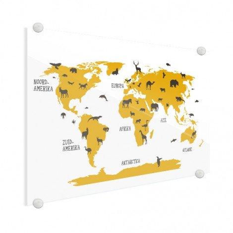 Dieren geel plexiglas