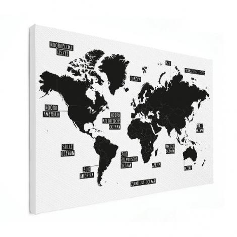 Eenvoudig - zwart wit canvas