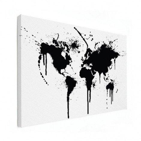 Zwarte inkt canvas