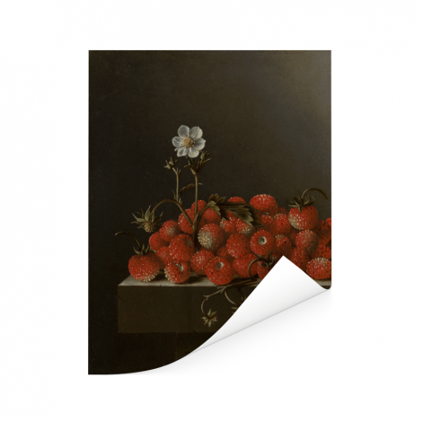 Stilleven met kazen amandelen en krakelingen - Schilderij van Clara Peeters Poster