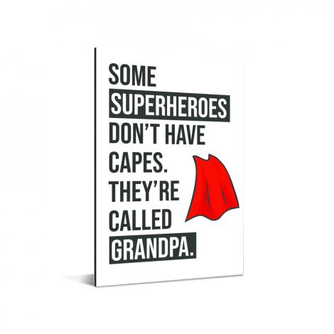Vaderdag - Cadeau voor opa met tekst - Superheroes Aluminium