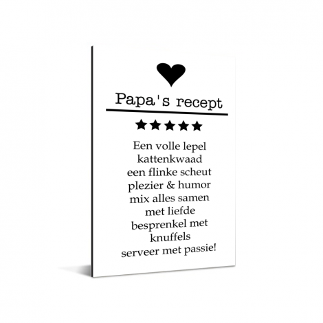 Vaderdag - Papa's recept Aluminium