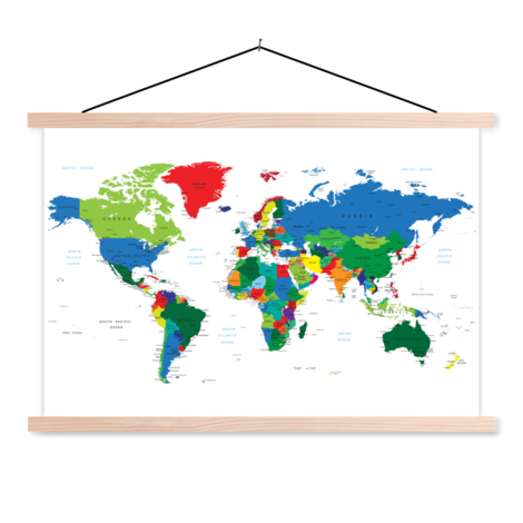 Alle landen textielposter