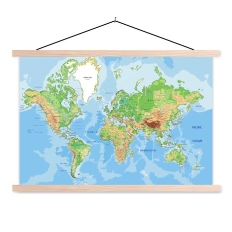 Geografisch textielposter