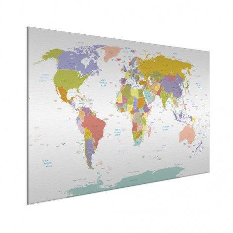 Alle landen - pastel aluminium