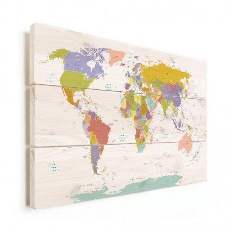 Alle landen - pastel hout