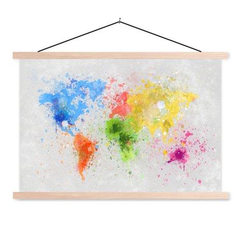 Gekleurde inkt textielposter