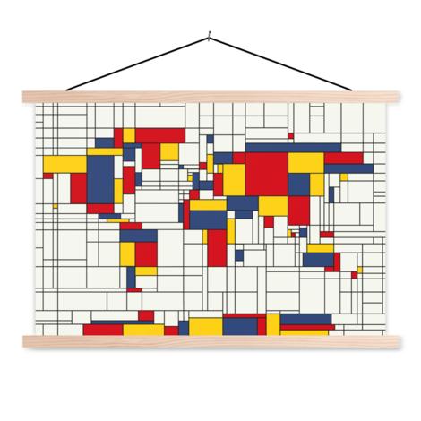 Mondriaan origineel textielposter