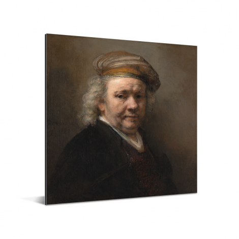 Zelfportret - Schilderij van Rembrandt van Rijn Aluminium