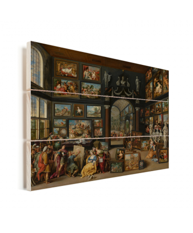Apelles schildert Campaspe - Schilderij van Willem van Haecht Vurenhout met planken