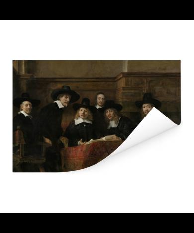 De staalmeesters - Schilderij van Rembrandt van Rijn Poster