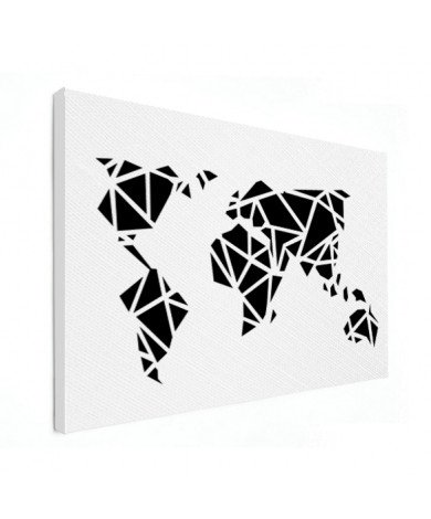 Geometrisch - zwart canvas