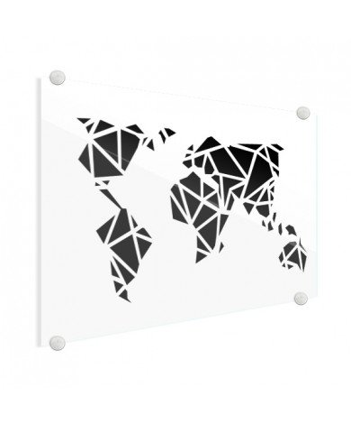 Geometrisch - zwart plexiglas