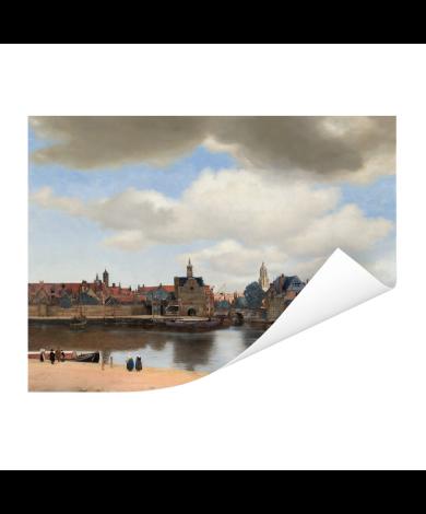 Gezicht op Delft - Schilderij van Johannes Vermeer Poster