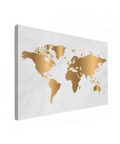 Goud marmer canvas
