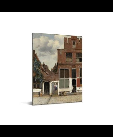Het straatje - Schilderij van Johannes Vermeer Aluminium