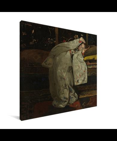 Meisje in witte kimono - Schilderij van George Hendrik Breitner Canvas