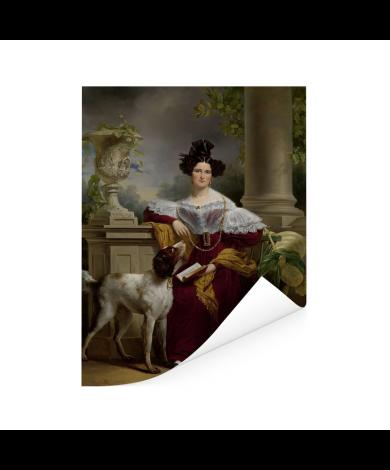 Portret van Alida Christina Assink - Schilderij van Jan Adam Kruseman Poster