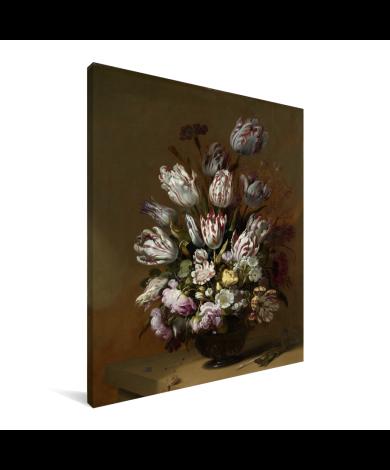 Stilleven met bloemen - Schilderij van Hans Bollongier Canvas