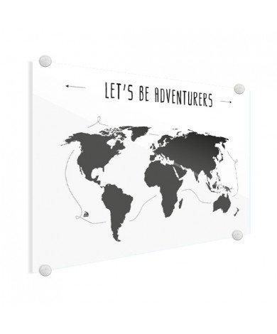 Tekst adventures plexiglas