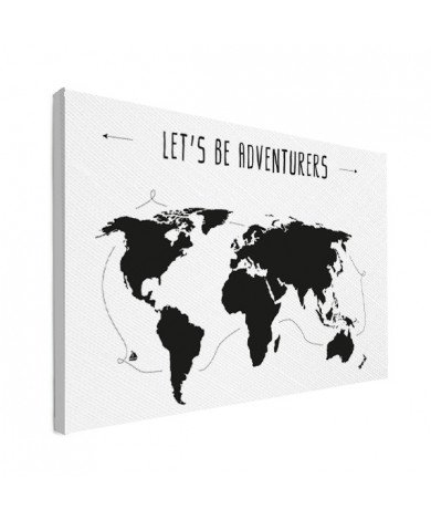 Tekst adventures canvas