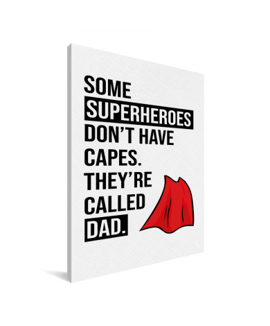 Vaderdag - Superheroes Canvas