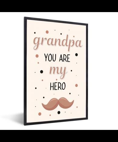 Vaderdag - Grandpa you are my hero - vaderdaggeschenk Fotolijst