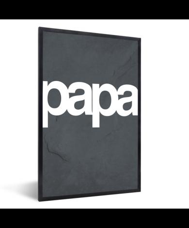 Vaderdag - Tekst en marmer - Papa Fotolijst