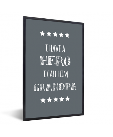 Vaderdag – I have a hero I call him grandpa - cadeau opa Fotolijst