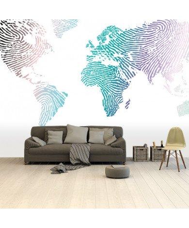 Vingerafdruk - kleur behang