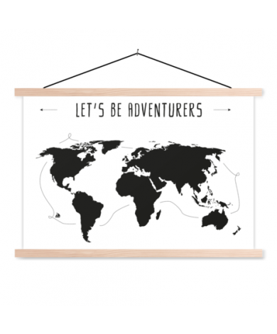 Tekst adventures textielposter