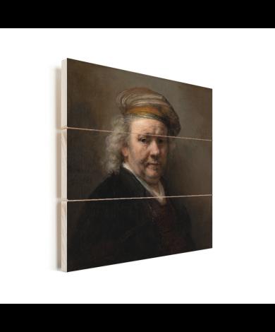 Zelfportret - Schilderij van Rembrandt van Rijn Vurenhout met planken