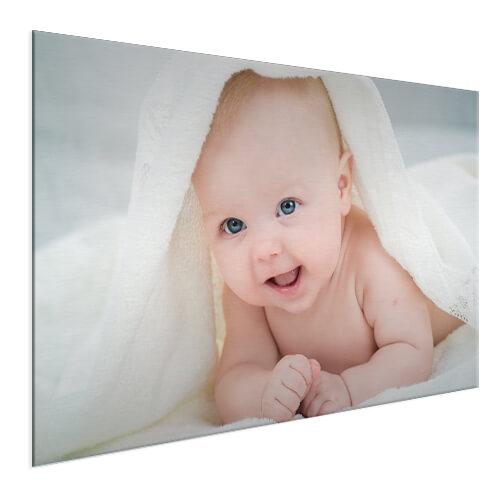 babyfoto op aluminium