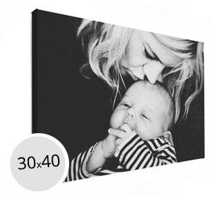 Foto op canvas moeder met kind