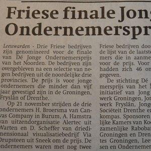 CanvasCompany in Friese Finale Jonge Ondernemersprijs