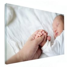 pasgeboren op canvas