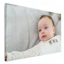 baby fotoshoot op canvas