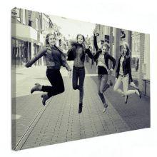gezinsfoto op canvas zusjes