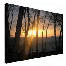 zonsondergang op canvas