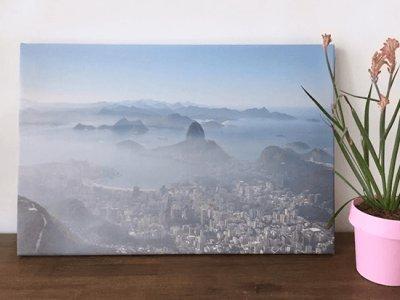 vakantiefoto op canvas