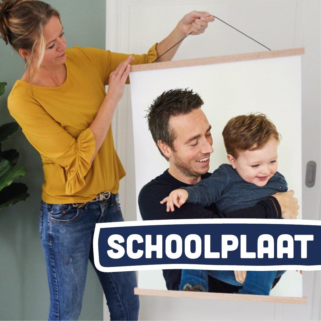 Foto op schoolplaat