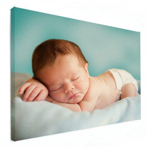 fotoshoot baby op canvas
