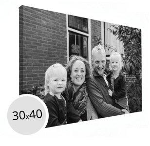 Foto op canvas familiefoto