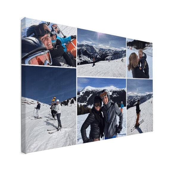 fotocollage vakantiefoto's op canvas