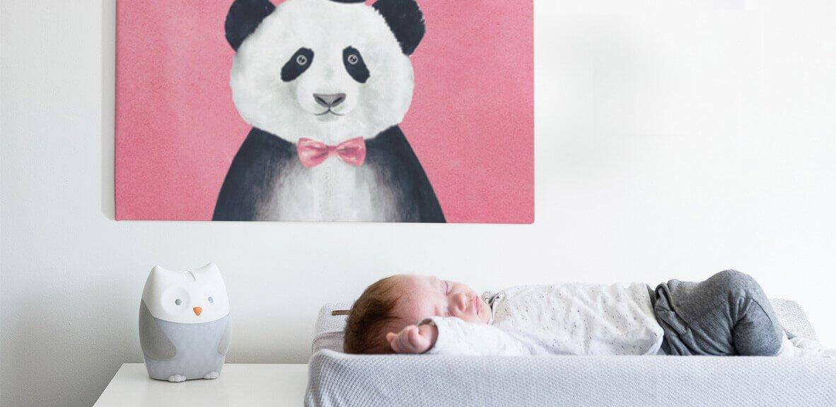 Geboortekaartje op canvas afdrukken