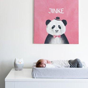 Geboortekaartje op canvas