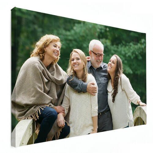 ouders en dochters op foto op canvas